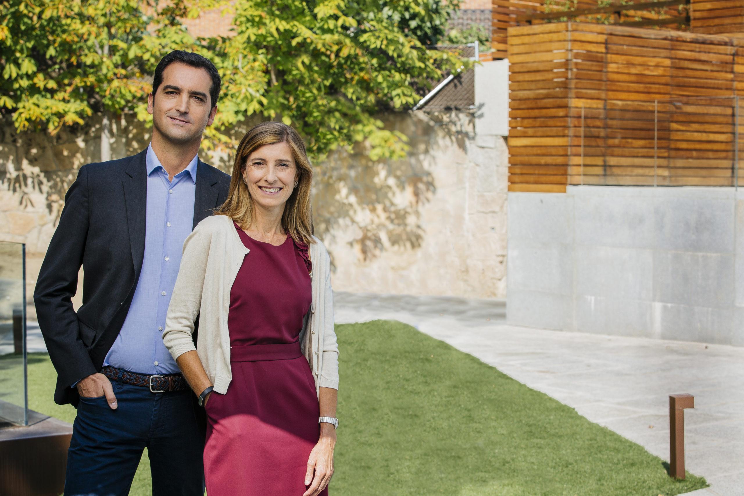 Carmén Giné, Global Wines Marketing Director & Spain Marketing Director & Corporate Communications Director.  Julián Fernandez, Global Marketing Director Spirits